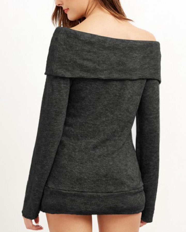 Off Shoulder Form Fitted Sweater gallery 8