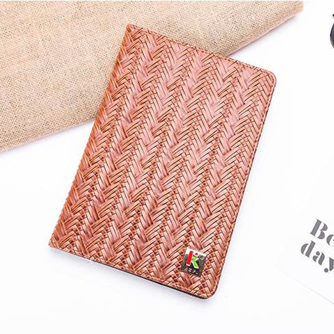 Knitted Grain Pure Color Foldable iPad Cover Case gallery 5