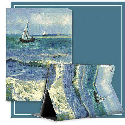 Freedom Style Silicon Sunset & Sea Print iPad Cover Case gallery 1