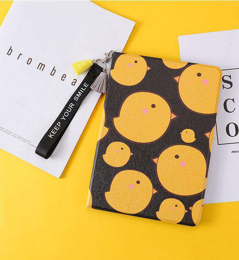 Lovely Yellow Chicken Painted Apple iPad Cover Case gallery 2