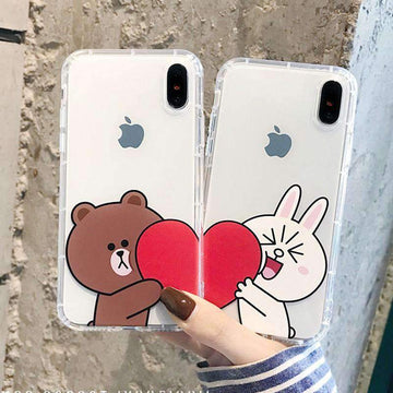 Cartoon Valentines Couple Inspired Phone Case for Apple iPhone