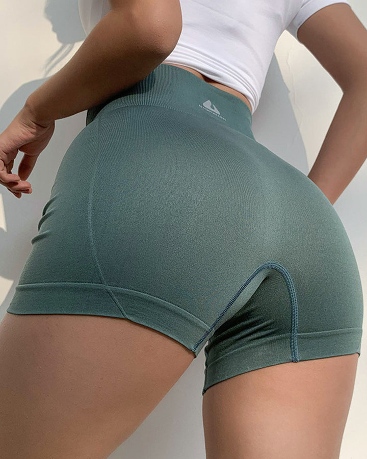 Letter Print Wide Waistband Stitch Trim Sports Shorts gallery 19