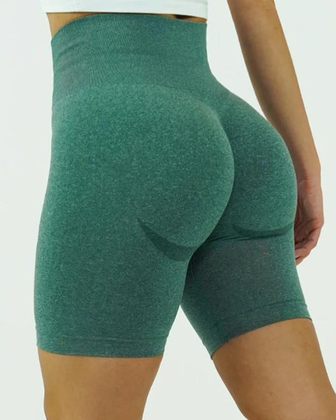 Beauty Contour Wide Waistband Sports Shorts gallery 3