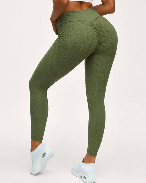 High Waist Butt Lifting Seamless Textured Leggings gallery 1