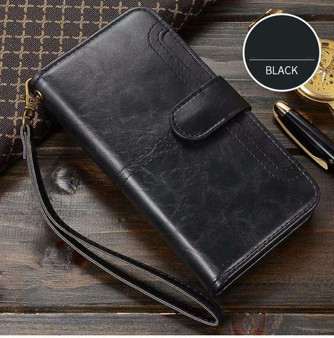 Retro Multi-functional Leather Phone Case for Samsung gallery 7