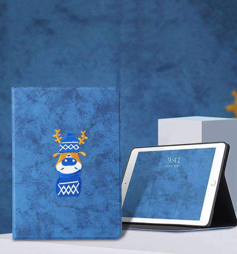 Creative Embroidery Pattern Apple iPad Cover Case gallery 2