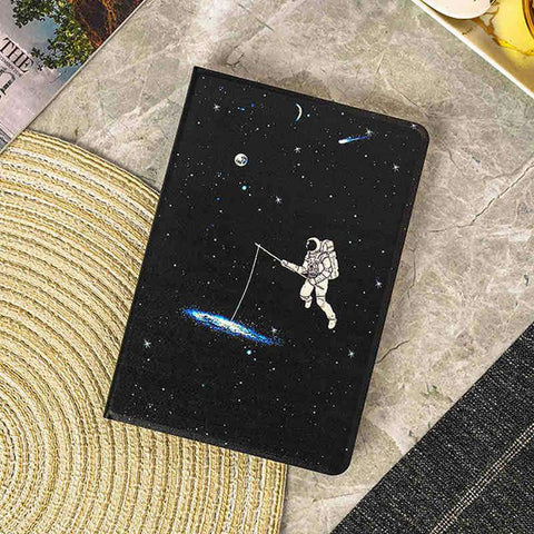 Space Astronaut Starry Sky Apple iPad Cover Case gallery 1