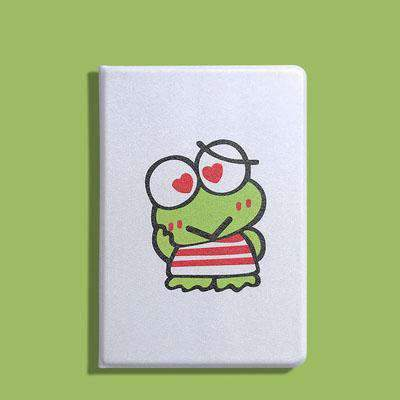 Cute Frog Painted Apple iPad Cover Case gallery 2