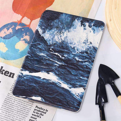Artistic Starry Sky Waves Painted Apple iPad Cover Case gallery 2