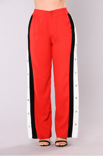 Rivet Side Split Straight Pants gallery 8