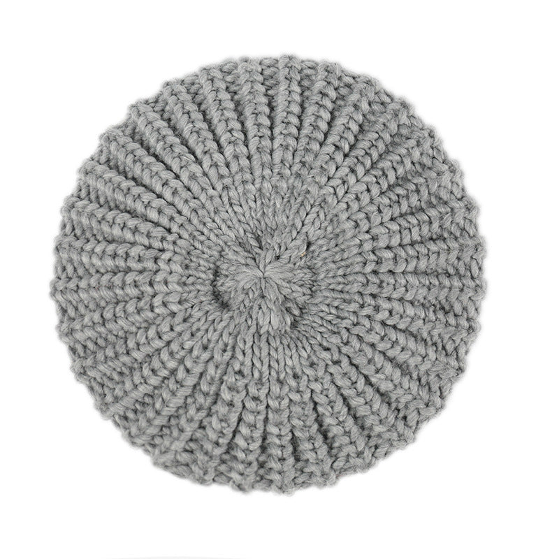Solid Cable Knit Beanie Hat