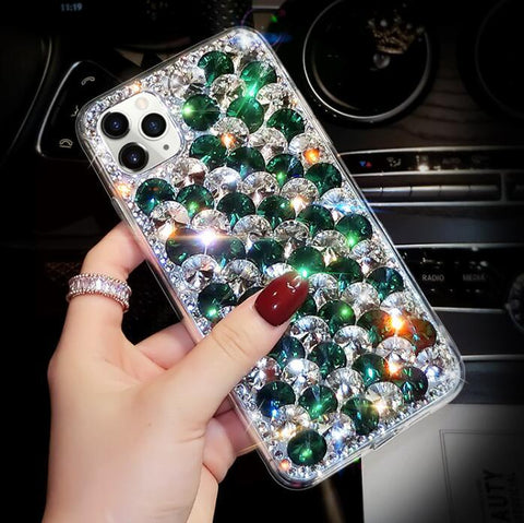 Full Rhinestone Cover Shockproof Phone Case for Samsung gallery 1