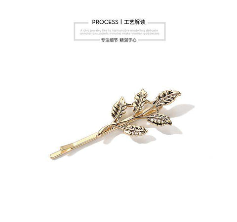 Gold Simple Flower Hair Pin gallery 11