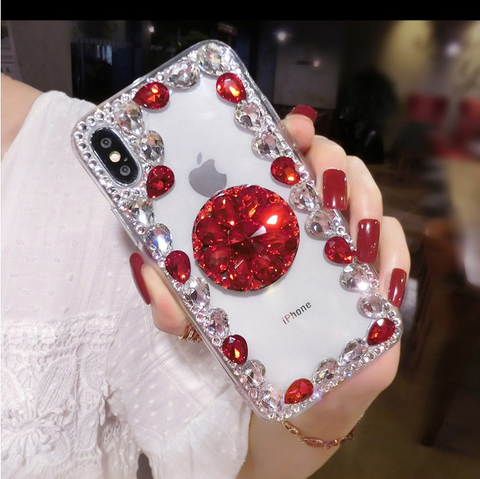 Ring Rhinestone Phone Case for Samsung with Phone Holder gallery 3