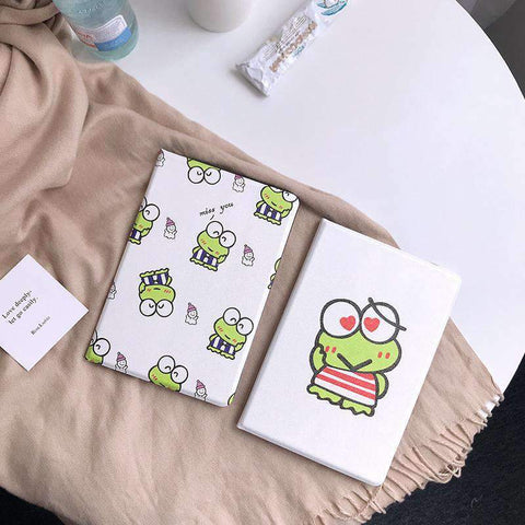 Cute Frog Painted Apple iPad Cover Case gallery 1