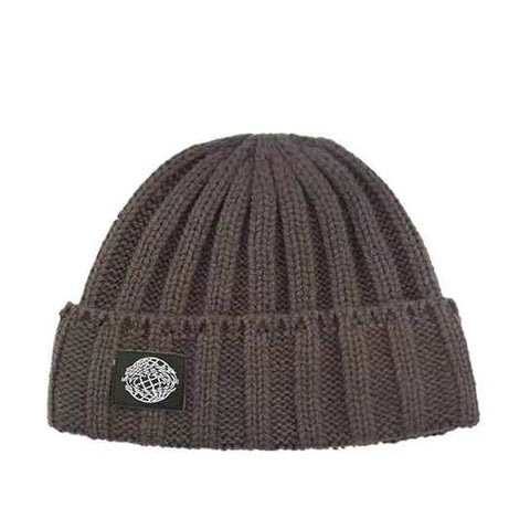 Retro Textured Warm Crimping Knitted Elastic Hat gallery 8