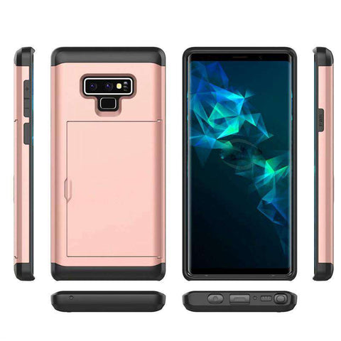 Samsung Galaxy Note 9 Pure Color Creative Phone Case With Card Holder gallery 14