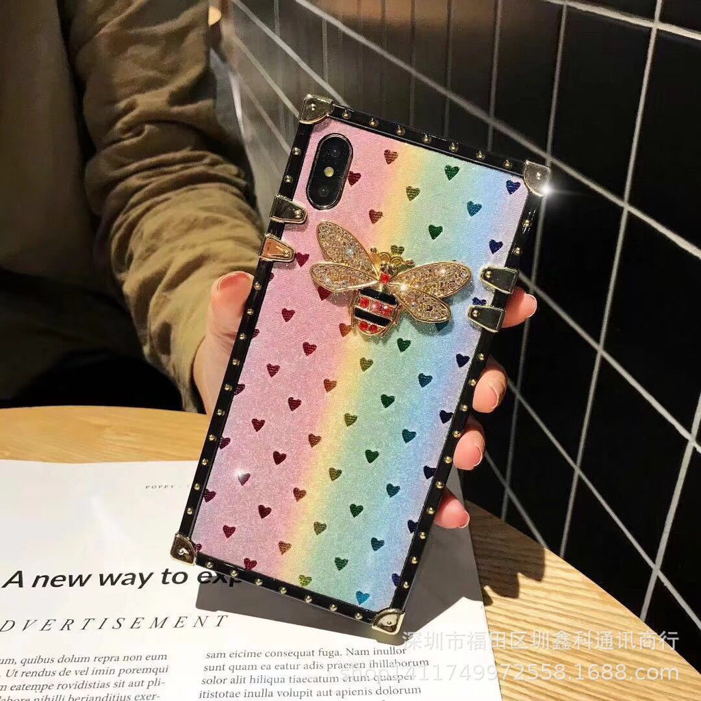 Colorblock Laser Bee Deco Phone Case for Samsung