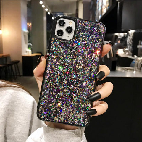 Luxury Sparkle Sequins Bling Shockproof Phone Case for Samsung gallery 3