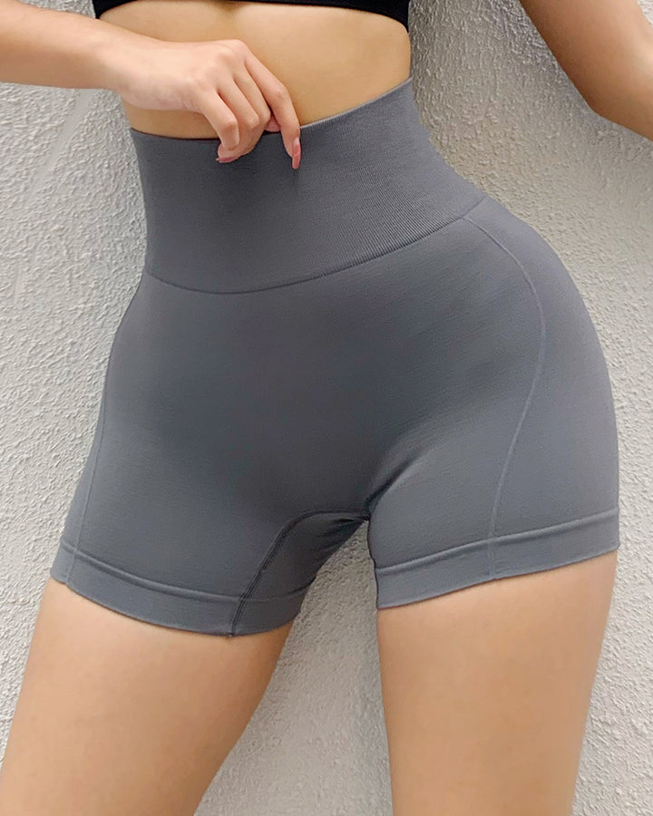 Letter Print Wide Waistband Stitch Trim Sports Shorts gallery 8