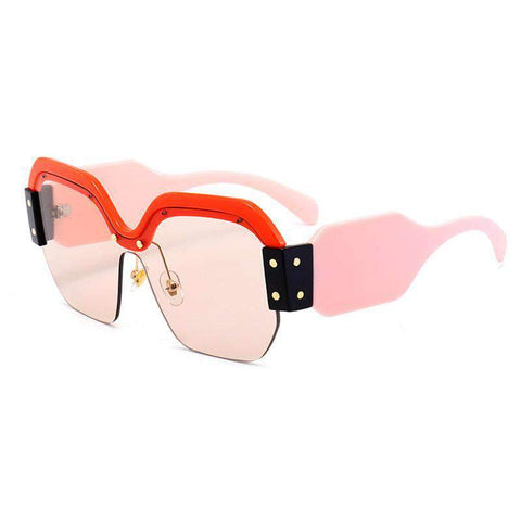 Chic Mirrored Flat Lens Wide Frame Sunglasses gallery 3