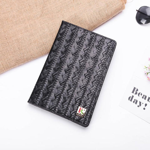 Knitted Grain Pure Color Foldable iPad Cover Case gallery 6