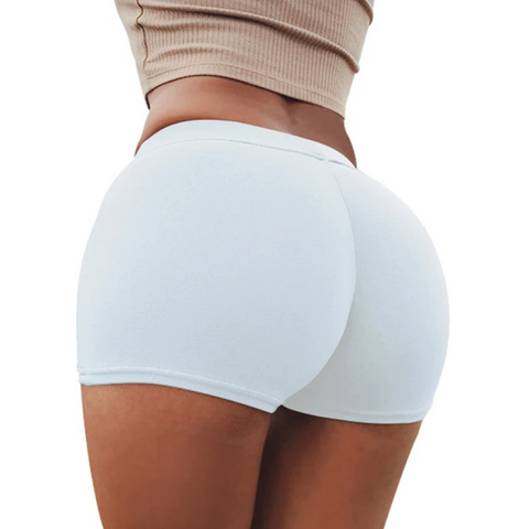 Solid Butt Lifting Compression Fit Shorts gallery 2
