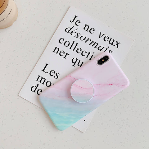 Gradient Shockproof Marble Phone Case for Samsung with Phone Holder gallery 11