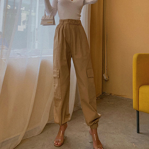 High Waist Straight Leg Cargo Trousers gallery 4