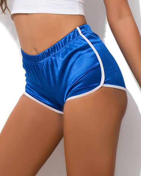 Contrast Binding Sports Shorts gallery 3