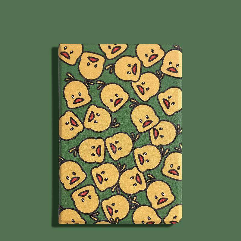 Cute Duck Pattern Magnetic Wake Up Apple iPad Cover Case