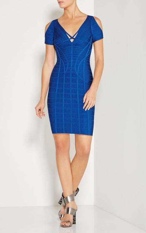 Sexy V-neck Strappy Cut-out Shoulder Bandage Dress gallery 9