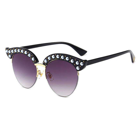 Vintage Wafer Lens With Pearl Side & Bee Detail Frame Sunglasses gallery 2
