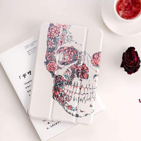 Creative Flower Butterfly Skull Apple iPad Cover Case gallery 3