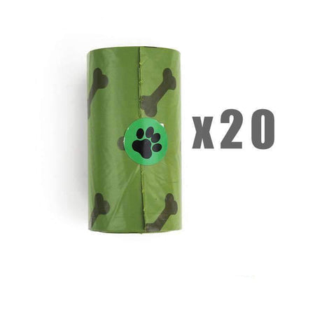Pet Puppy Use Poop Dispenser Green Bone Shaped With Degradable Bags gallery 7