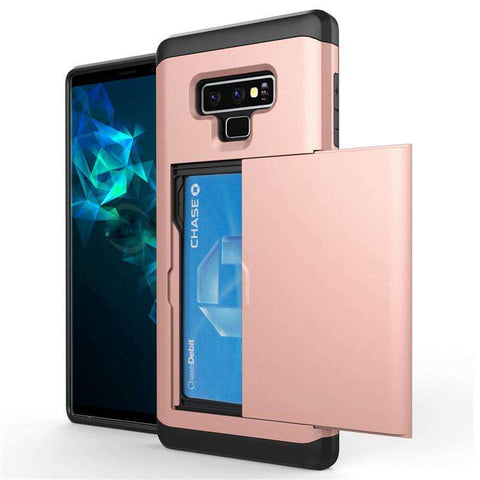 Samsung Galaxy Note 9 Pure Color Creative Phone Case With Card Holder gallery 15