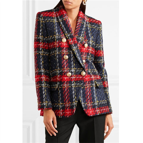 Tartan Check Gwen Tweed  Blazer