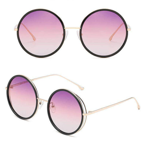 Circle Shape Lens with Wire Side Sunglasses gallery 6