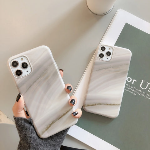 Dust Pattern Marble Design iPhone Case