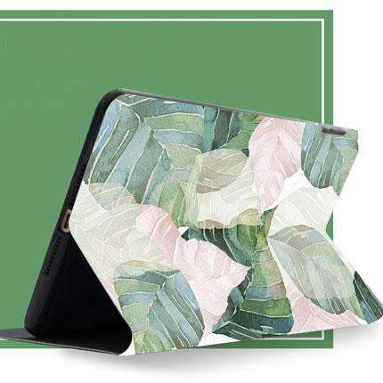 Fresh Leaves Painted Apple iPad Cover Case gallery 3