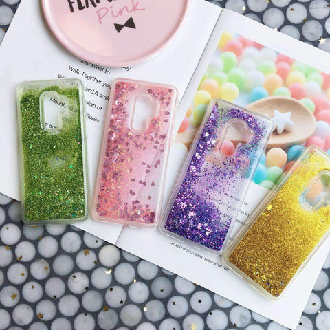 Chic Pure Color Star Fragments Liquid Bling Glitter Samsung Case gallery 1