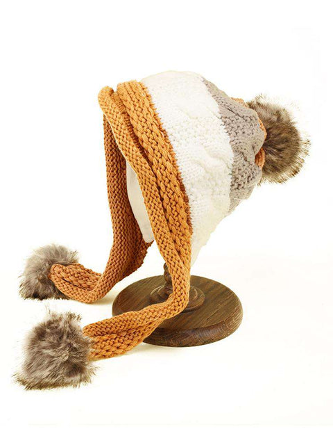 Women's Winter Cute Assorted Color Warm Thick Hat gallery 11