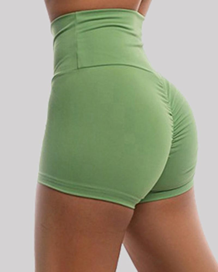 Solid Ruched Butt Lifting High Waist Sports Short gallery 8