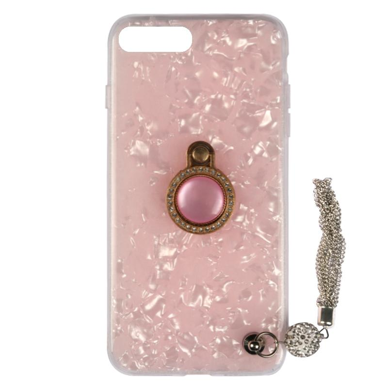 Elegant Shell Glittering iPhone Case With Shining Phone Ring Holder