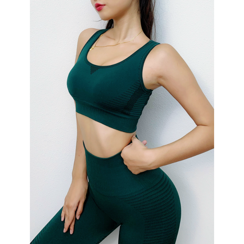 Cut Out Back Sports Bra & Laser Cut Out Leggings Set