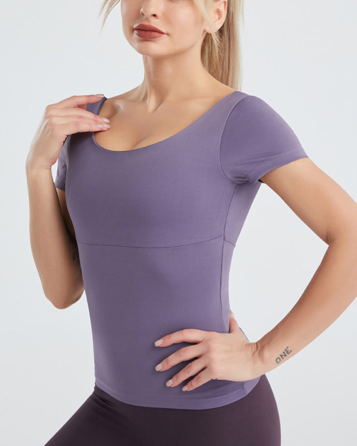 Cut Out Criss Cross Back Sports Top gallery 6