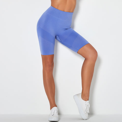 Contrast Panel Butt Lifting Sports Shorts gallery 5