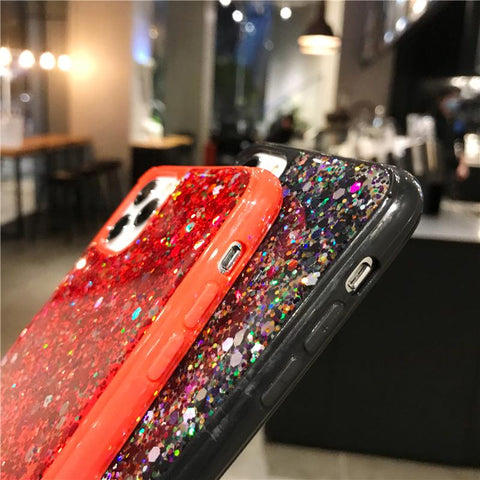 Luxury Sparkle Sequins Bling Shockproof Phone Case for Samsung gallery 9