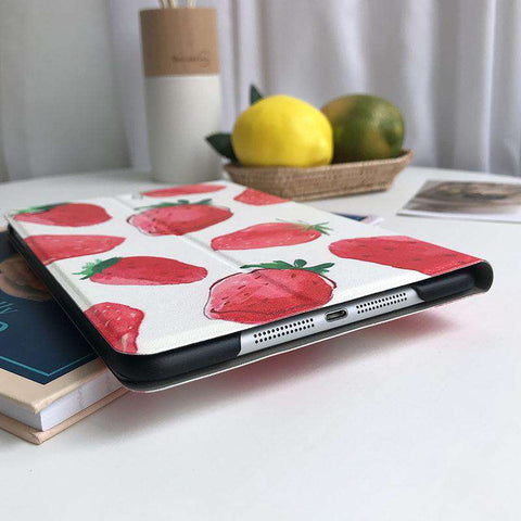 Literary Strawberry Painted Apple iPad Cover Case gallery 3