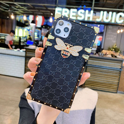 Rivet Trim Metal Bee Deco Square Phone Case for Samsung gallery 3